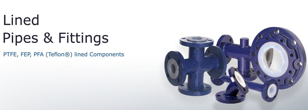 lined pipes and fittings components