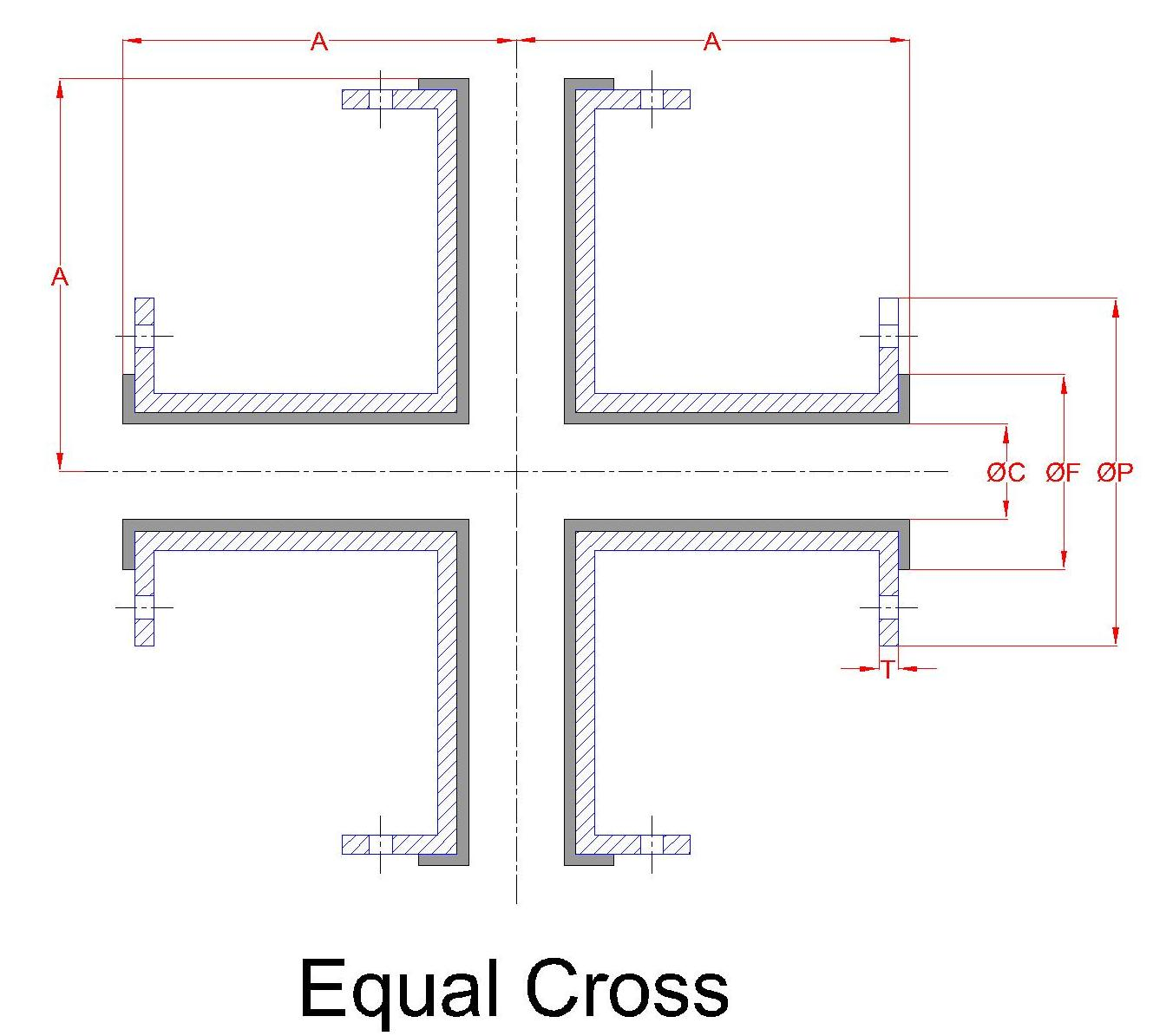 Lined Unequal Cross 2