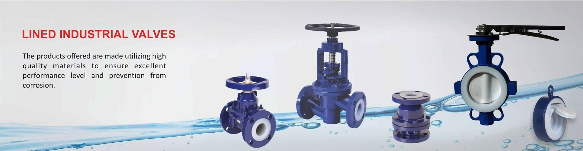 lined industrial valves